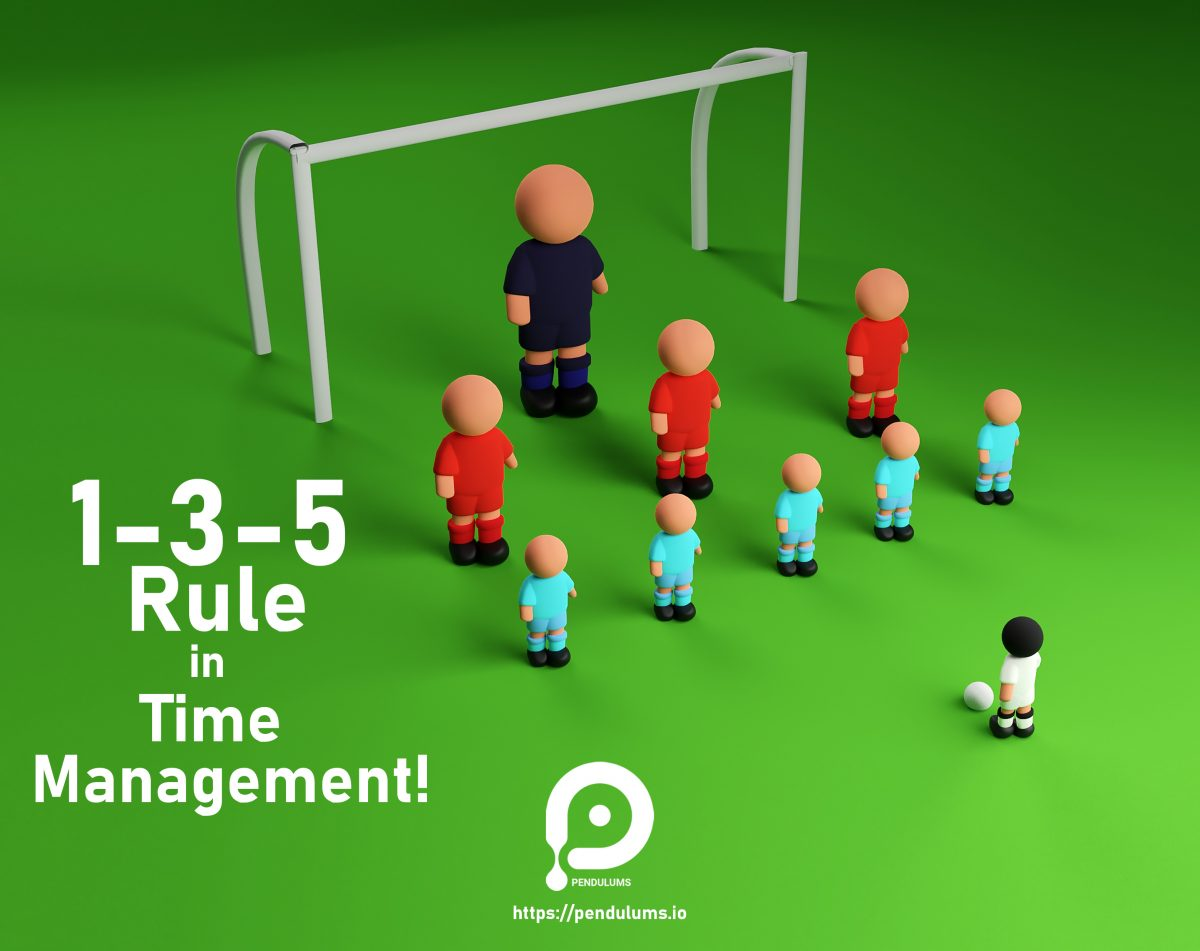 1-3-5 Rule in Time Management This method is one of the most widely used methods in time management. In this way, you can list your daily or weekly schedules, do not neglect the power of writing at all, it helps to open your mind. After writing, try to categorize into three main groups: big medium Small Pay attention to the two aspects of tasks in the division: - In terms of time to perform each task: Jobs that take more than 3 hours are usually large jobs, jobs that take 1-2 hours are average, and jobs that take 30 minutes to 1 hour are small jobs. - In terms of difficulty or convenience: Sometimes a task may take more than an hour, but it does not take much energy from you, so you can write small tasks. Start the day with the same big task and swallow your so-called frog. If something new came up that was not necessary, write it down in tomorrow's list, and replace it with the less important tasks if necessary. Use Time Tracker to be able to calculate how long each task took One of the best time trackers available, pendulum, free and easy to use